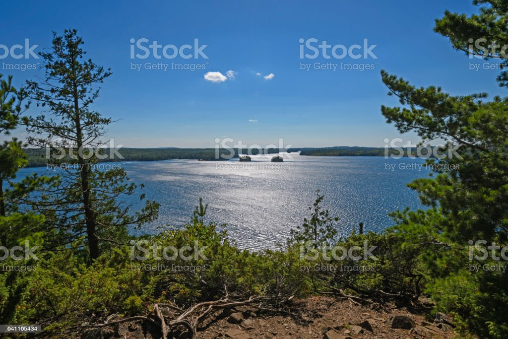 View point over the Boundary Waters stock photo