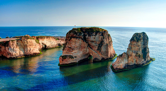 istock View Raouche or Pigeon Rock, Beirut Lebanon 670825554