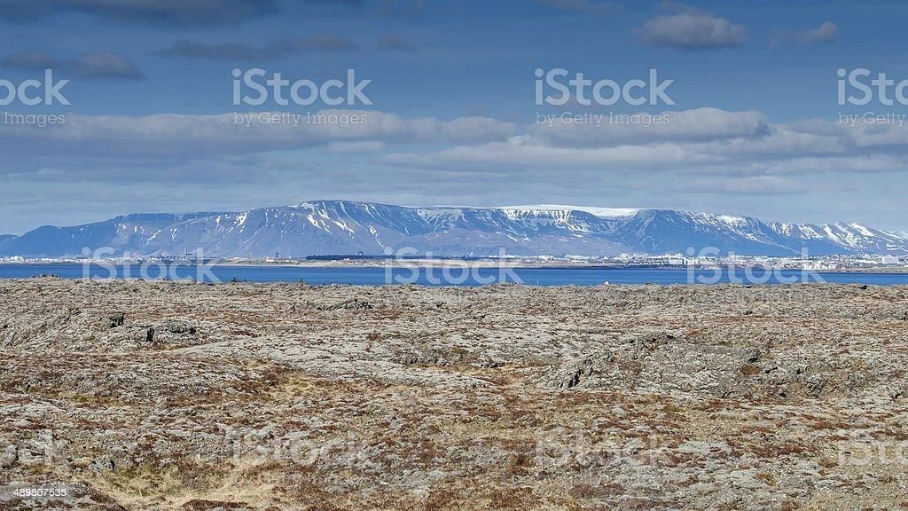 View Reykjanes Iceland stock photo