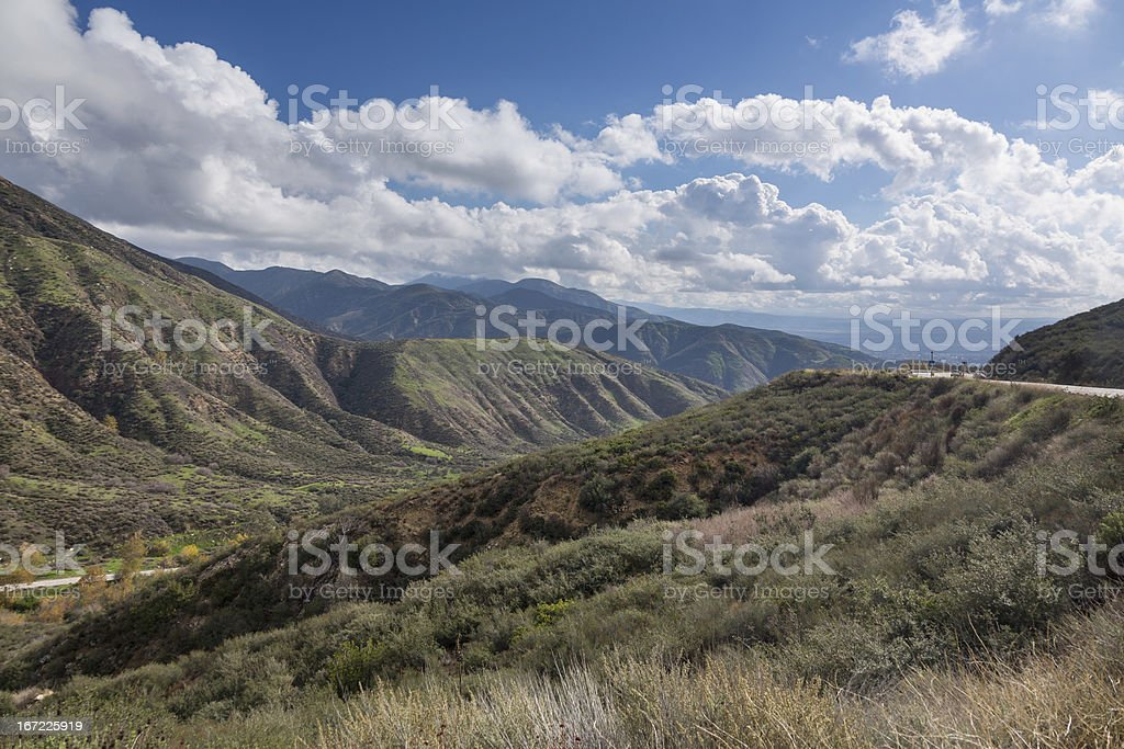View San Bernadino Rim of World Highway stock photo