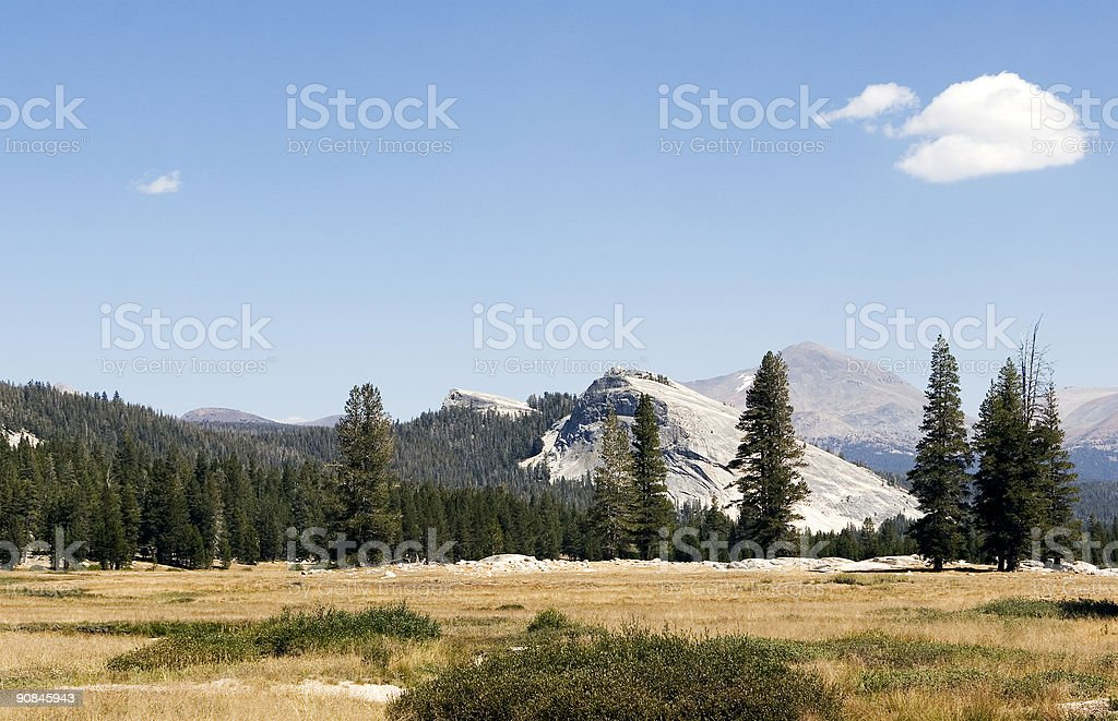 View seen from Tioga pass road, California stock photo