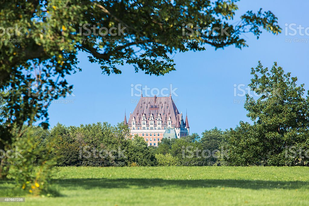 View the Chateau Frontenac, Quebec, Canada stock photo