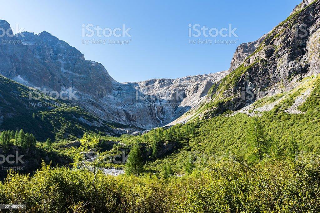 View the Dolomites (Matarot waterfalls) stock photo