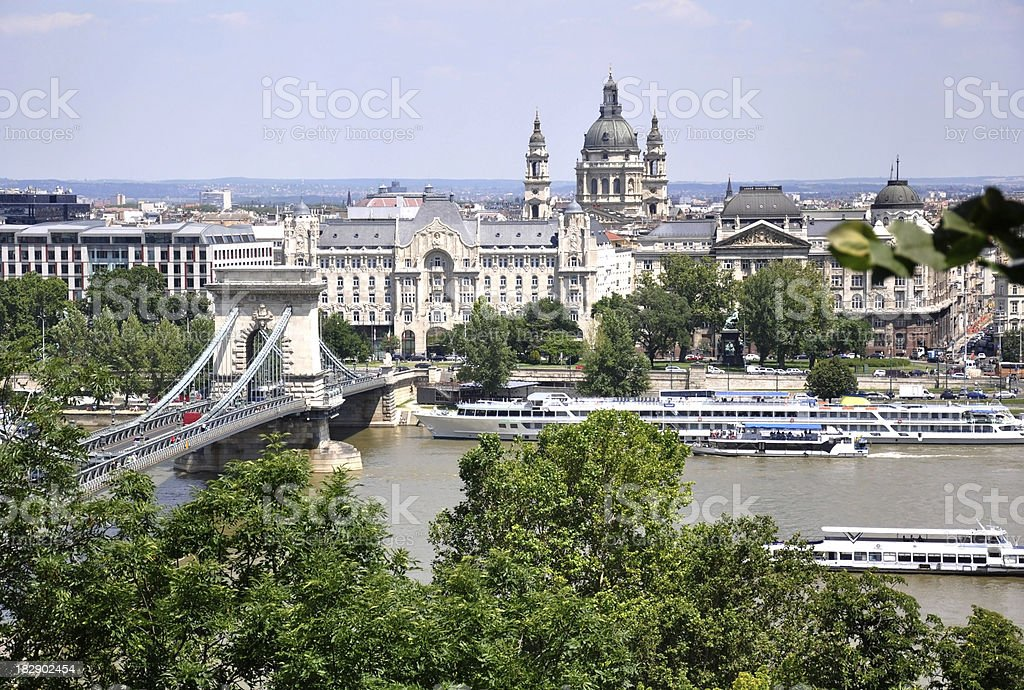 view the Pest side of Budapest, Hungary royalty-free stock photo