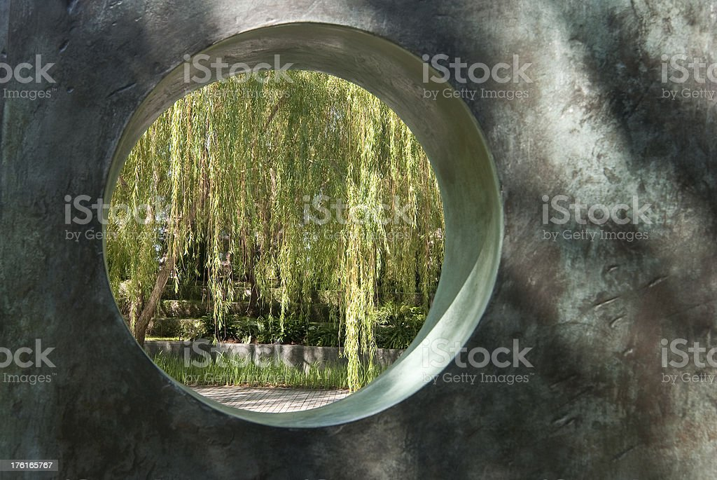 View Through a Circle royalty-free stock photo