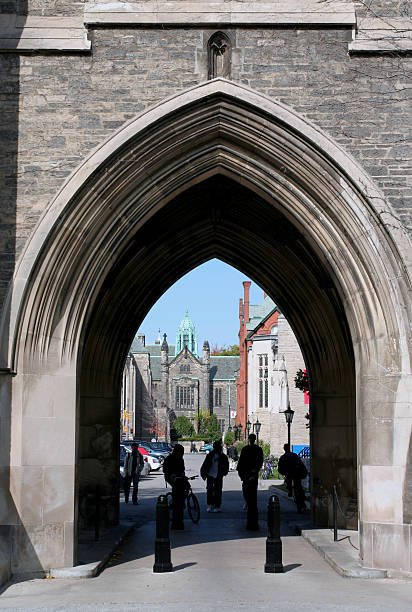 view through an archway  lancet arch stock pictures, royalty-free photos & images