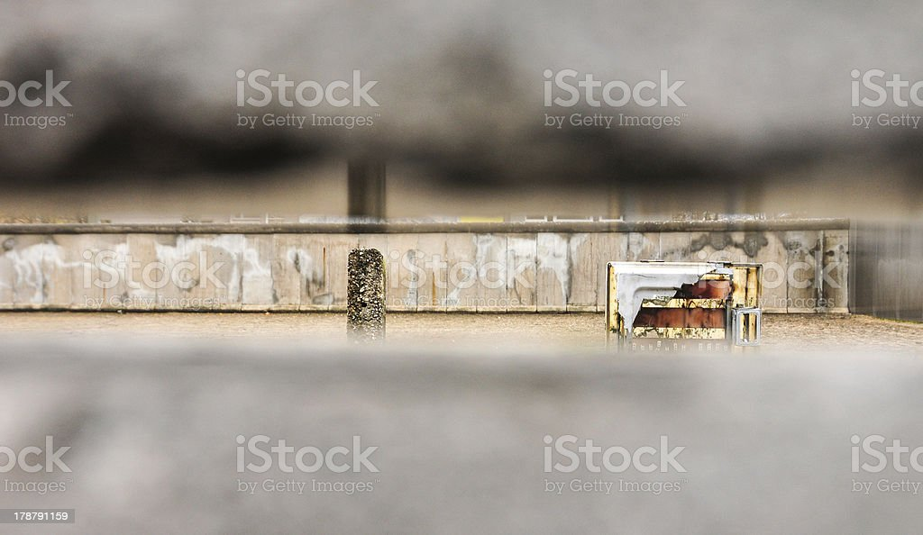 View through Berlin Wall royalty-free stock photo