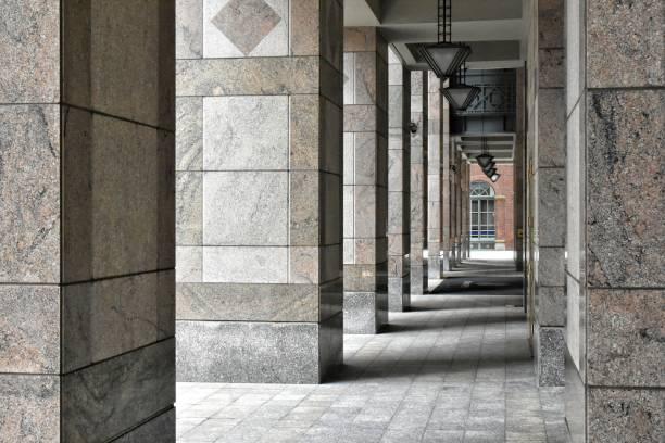 View through Columns stock photo