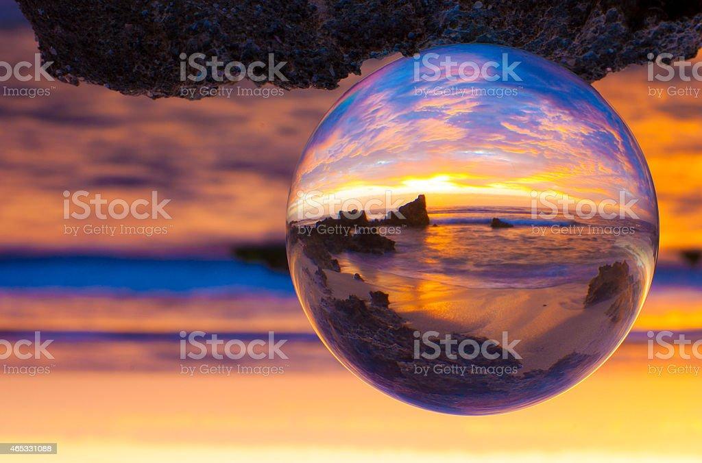 view through glass stock photo