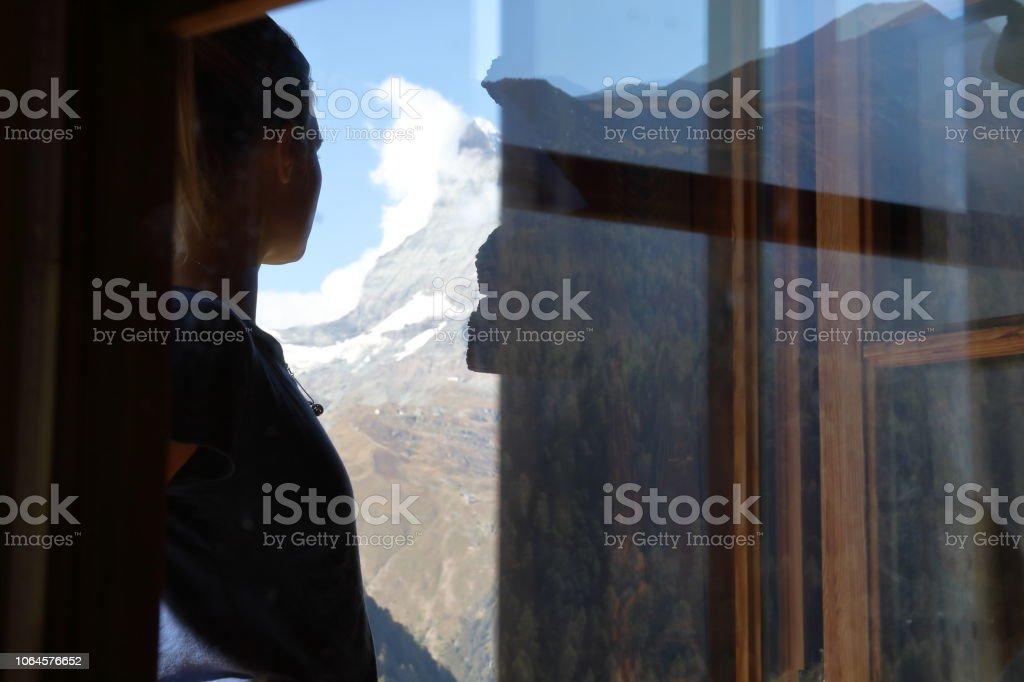 Matterhorn in distance, Zermatt