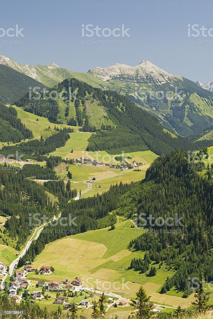 "View through the ""Berwangertal"" royalty-free stock photo"