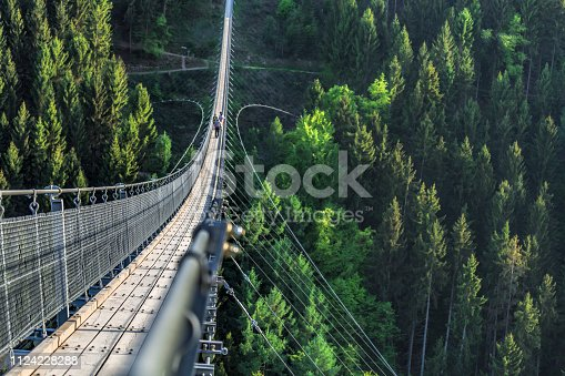 istock view to a large suspension bridge of germany 1124228288