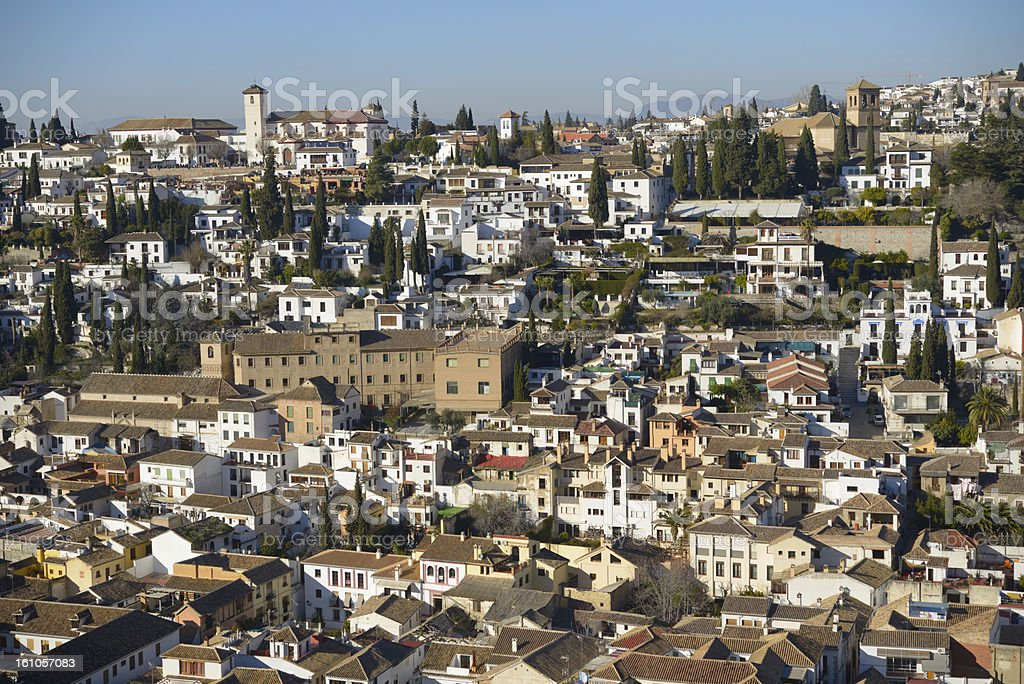 View To Albayzin Granada Spain Stock Photo & More Pictures of Aerial