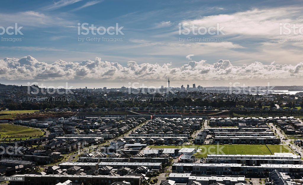 View To Auckland City From Mtwellington New Zealand Stock Photo
