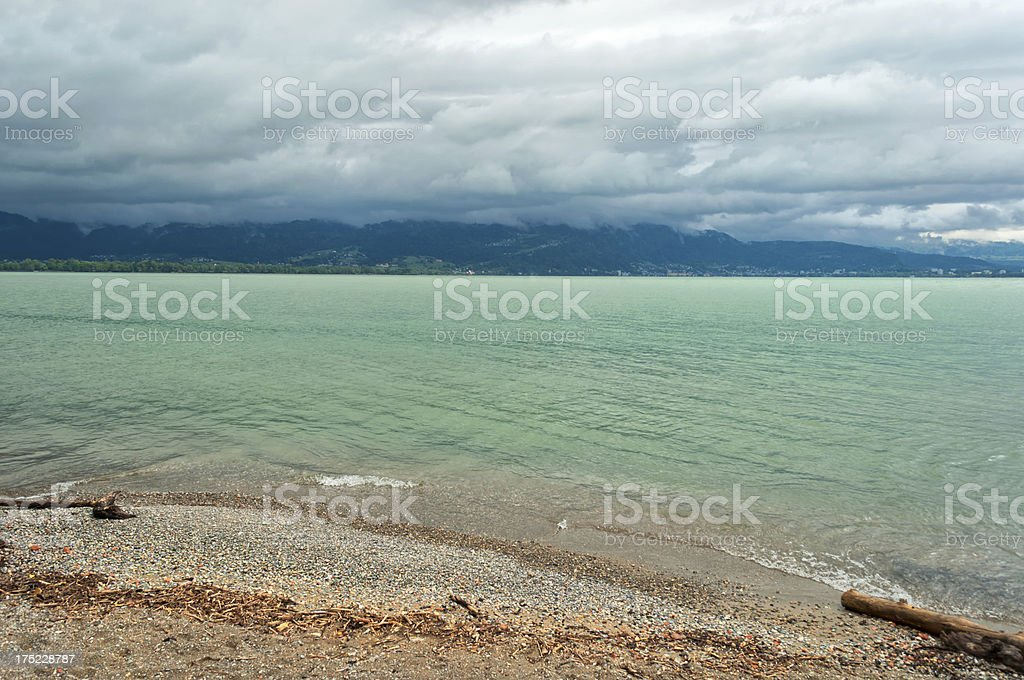 View to Austria over Lake Constance stock photo