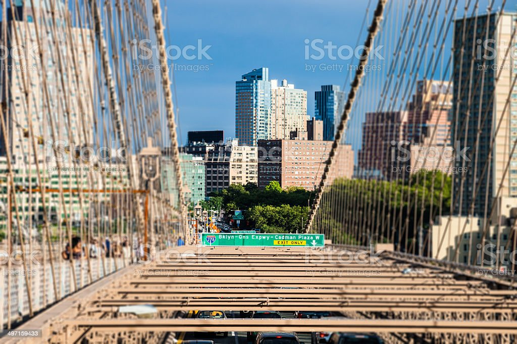 View to Brooklyn Skyscrapers royalty-free stock photo