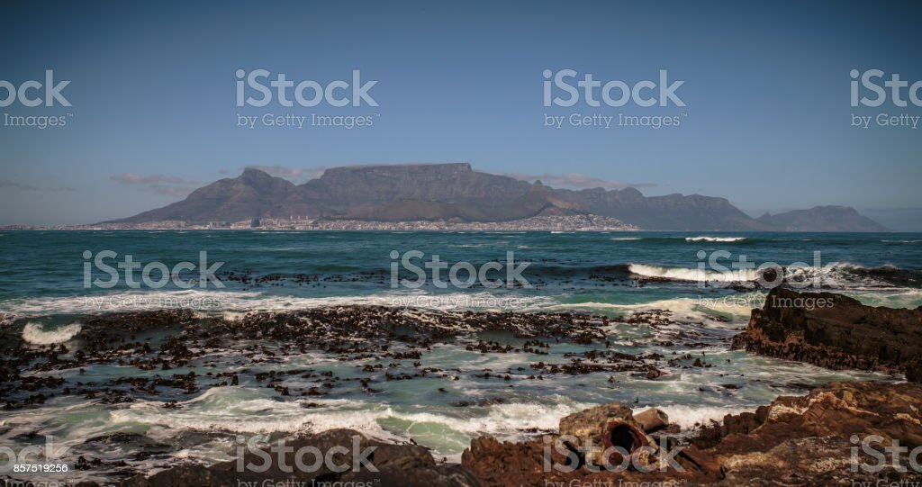 View to Cape Town, South Africa stock photo