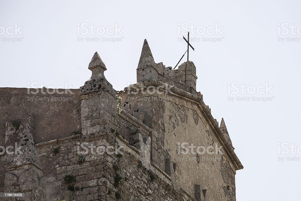 View to church in Erice royalty-free stock photo