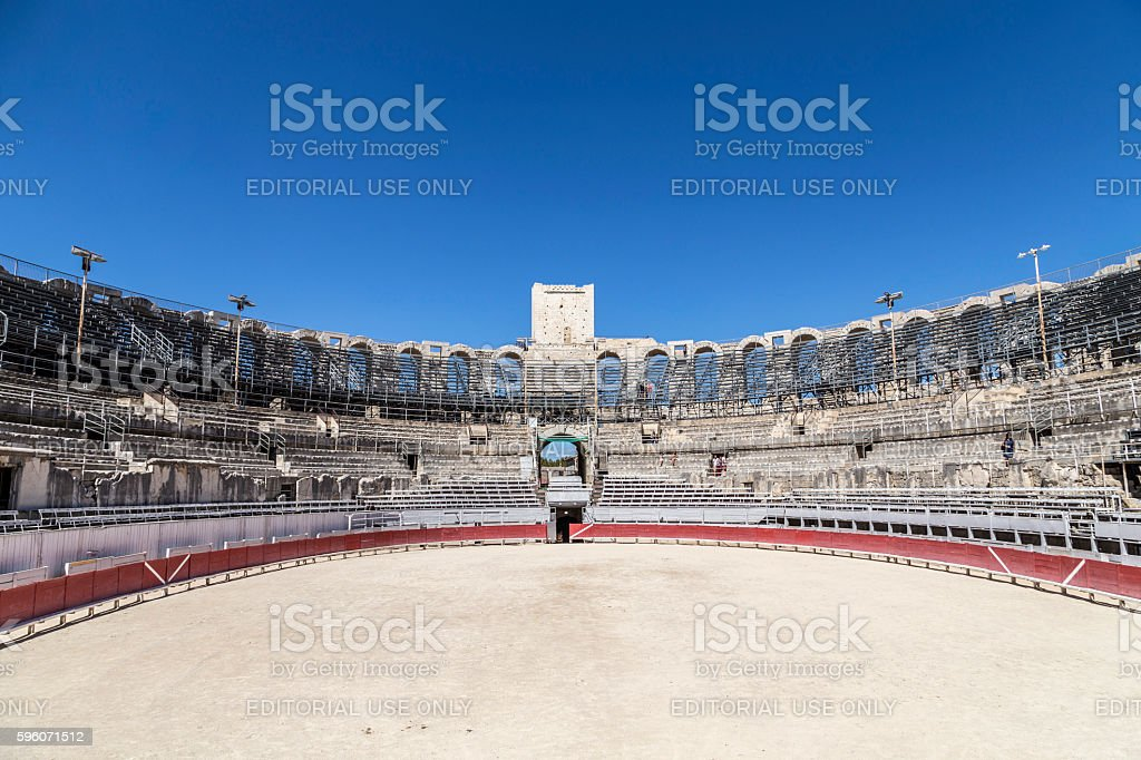 view to famous arena in Arles, France royalty-free stock photo
