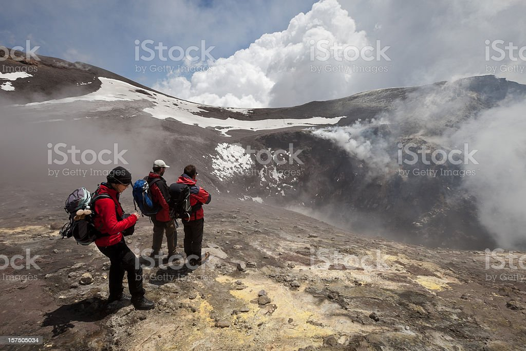 View to hell, Mt. Etna, Sicily, Italy stock photo