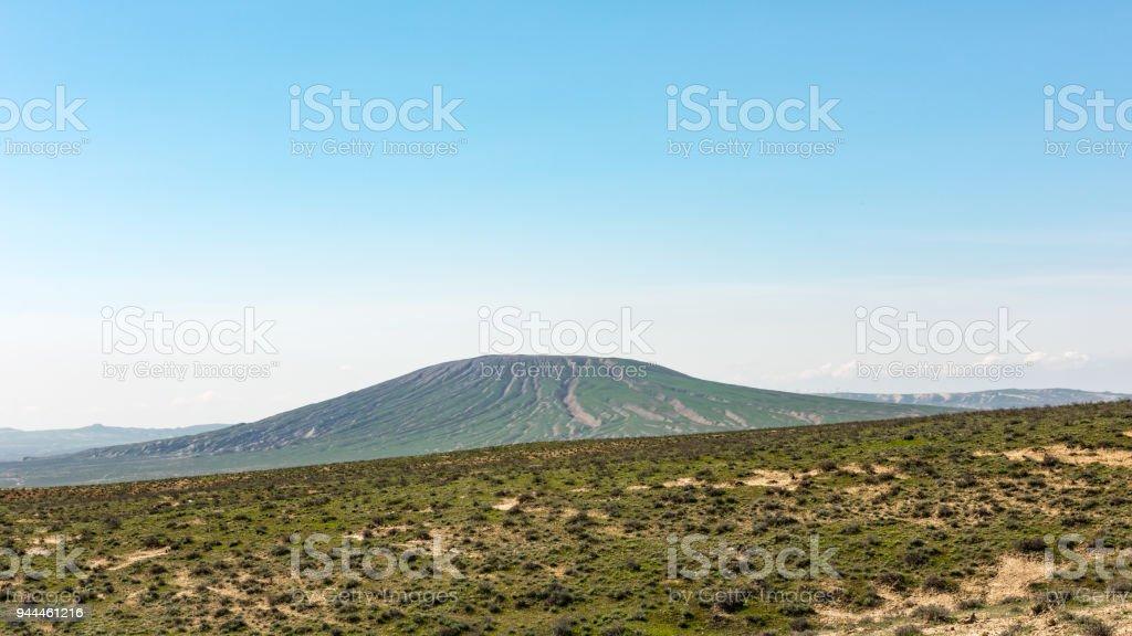 View to huge mud volcano stock photo