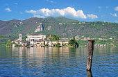 View to Isola san Giulio,Lake Orta,Piedmont,Italy