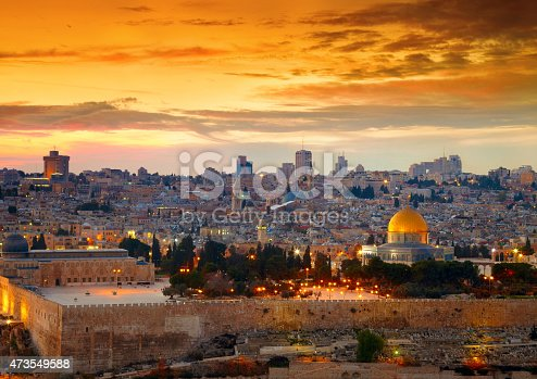 istock View to Jerusalem old city. Israel 473549588