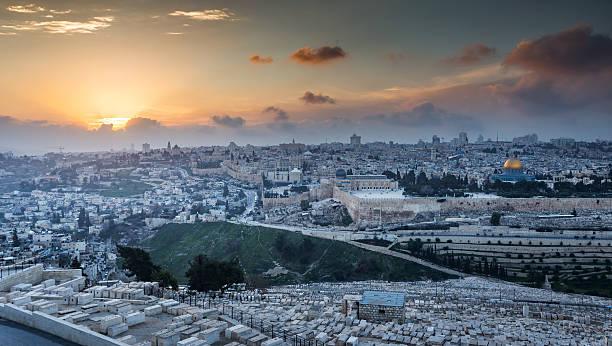 Blick auf die Altstadt von Jerusalem.   Israel – Foto