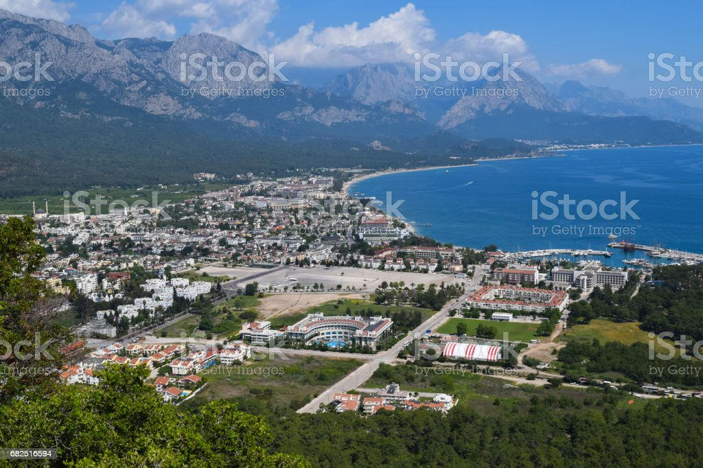 View to Kemer town from Calis Tepe (mountain). Turkey. Asia Minor royalty-free stock photo