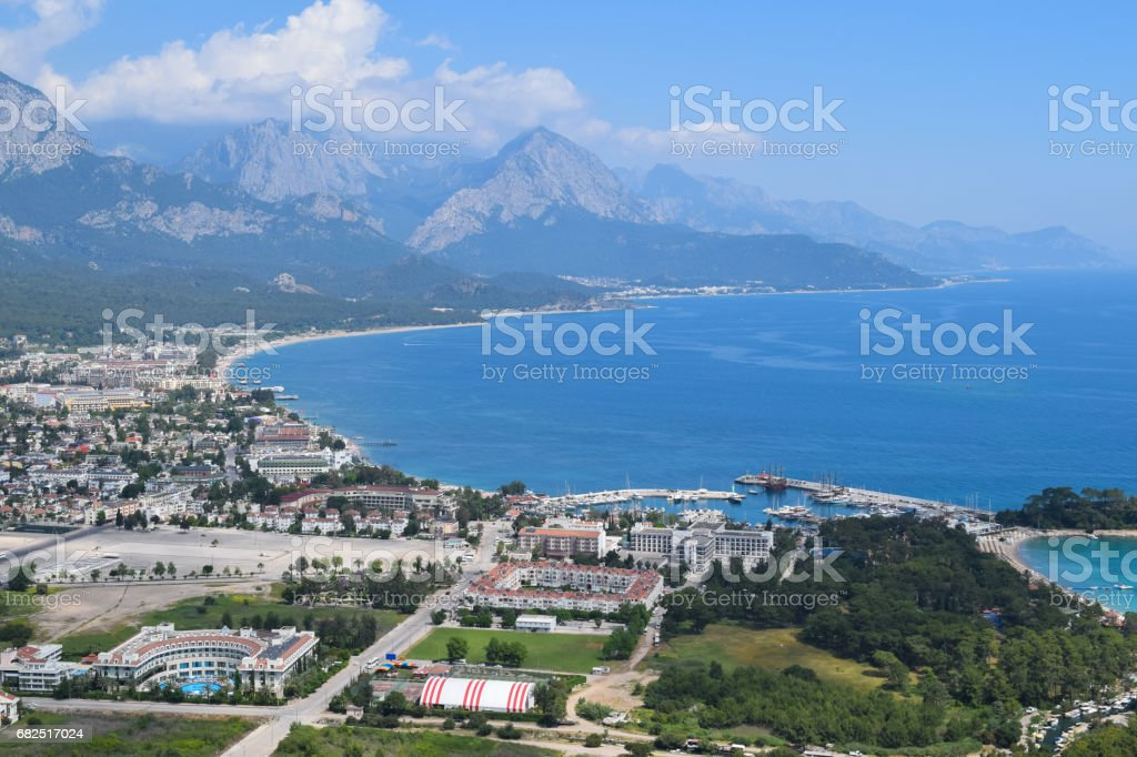 View to Kemer town from Calis Tepe (mountain). Turkey. Asia Minor royalty-free stock photo
