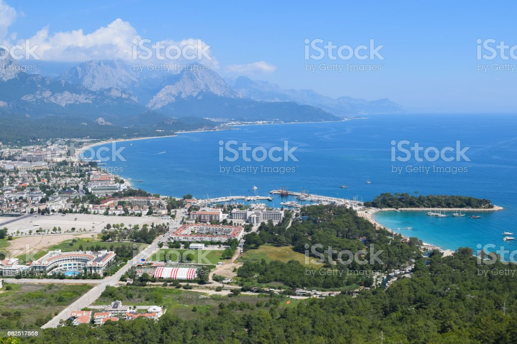View to Kemer town from Calis Tepe (mountain). Turkey. Asia Minor foto de stock royalty-free