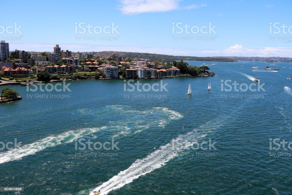View to Kirribilli in Sydney, New South Wales Australia stock photo