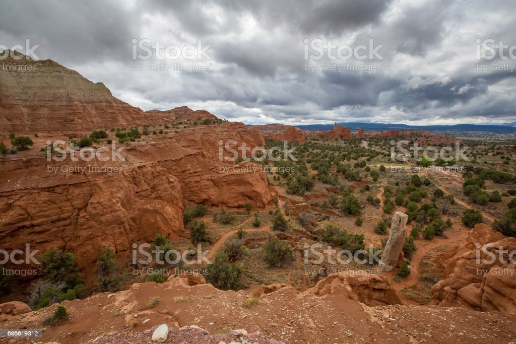 View to Kodachrome basin state park in Utah, USA royalty-free stock photo
