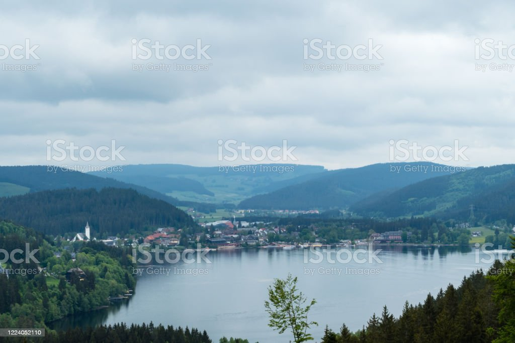 View To Lake Titisee Germany From Above Stock Photo Download Image Now Istock