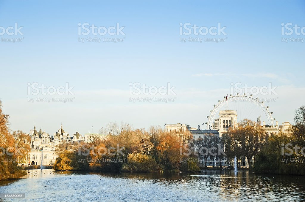 View to London city stock photo
