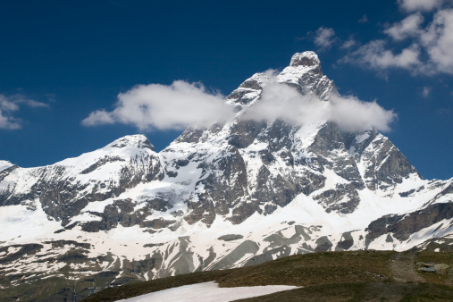 View to Matterhorn (Italian Alps)
