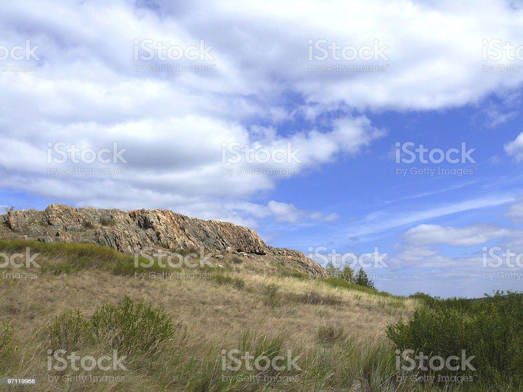 View to mountain 'Shamanka' - Arkaim stock photo