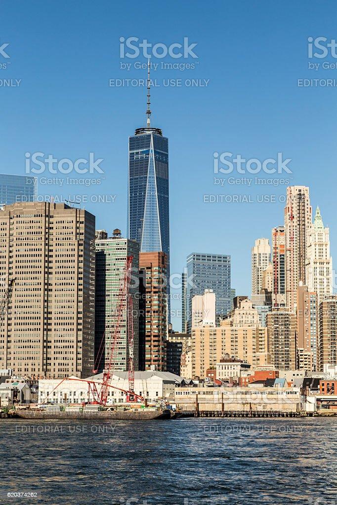 view to new skyscraper one World trade foto de stock royalty-free