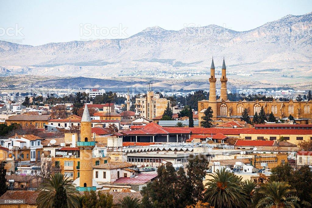 View to Nicosia, Cyprus. stock photo