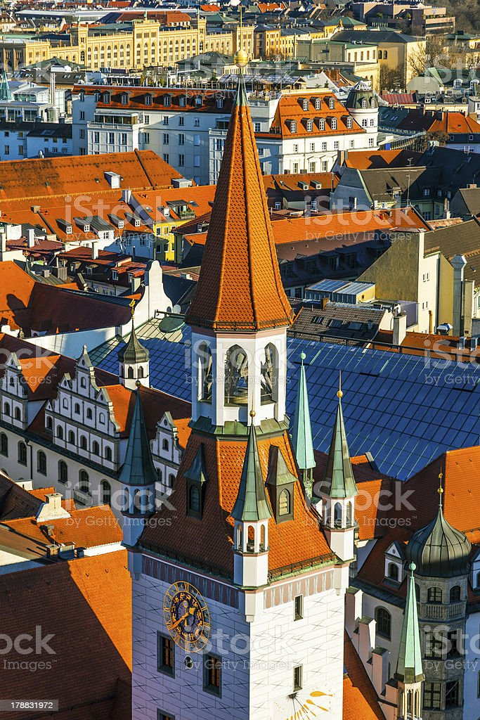 view to old town hall in Munich royalty-free stock photo