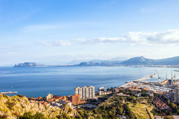 View to Palermo, Sicily stock photo