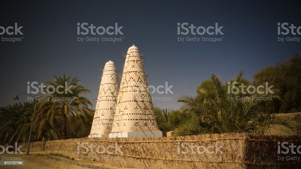 View to Pigeon tower, Siwa oasis, Egypt stock photo