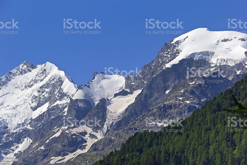 View to Piz Bernina, Switzerland royalty-free stock photo