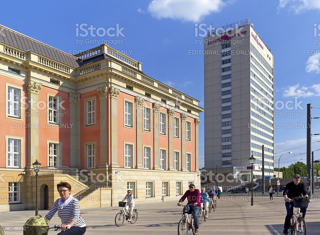View to Potsdam and the new Castle stock photo