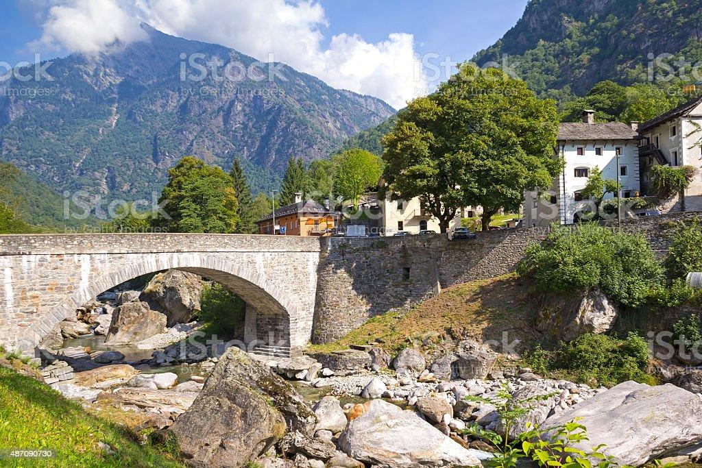 View to Prato-Sornico stock photo