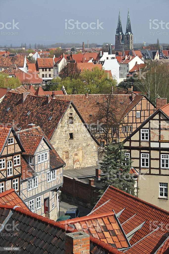 View to Quedlinburg (Germany) royalty-free stock photo