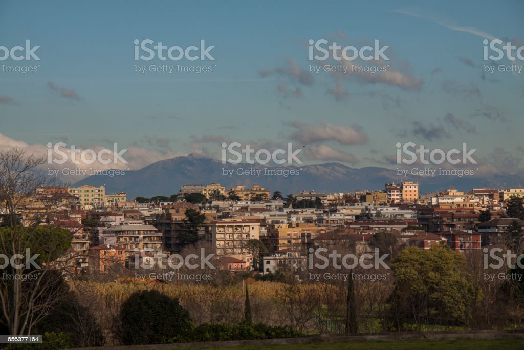 View to Rome from Via Appia, Italy - foto stock