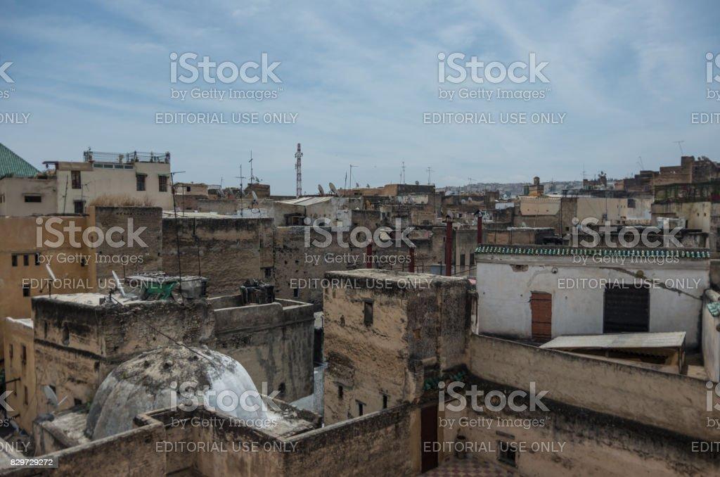 Ve A La Azotea De La Medina Medieval De Fez Desde Terraza