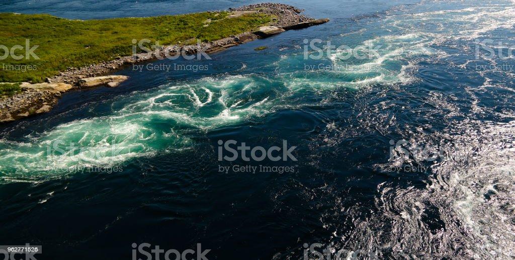 View to Saltstraumen whirlpools, Norway - Foto stock royalty-free di Acqua
