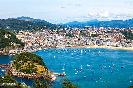 View to San Sebastian from top of the hill.
